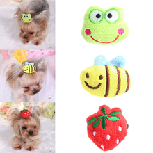 1PC Beauty Pet Grooming Accessories Colorful Cat Dog 3D Hair Bows Hair Clips -W2 10(China)