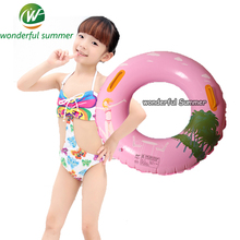 5 Pieces/set Child Swimming Ring With Handles Cartoon Pattern Inflatable Pool float Toys For Kids Boys Girls Lifebuoy Float Raft(China)