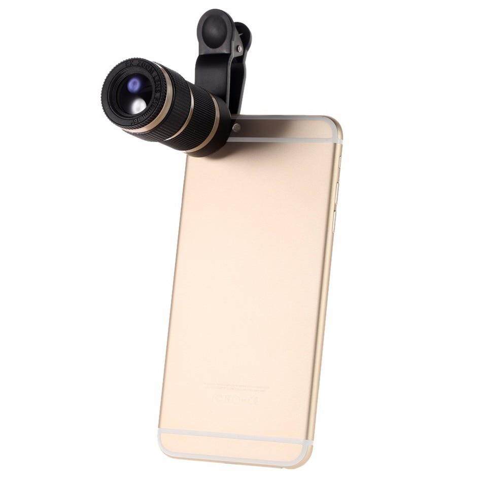 12in1 Camera Lens Kits 8x Zoom Telephoto Lentes Fisheye Wide Angle Macro Lens For iPhone 5 5C 5S SE 6 6S 7 Plus 8 X Phone Lenses 6