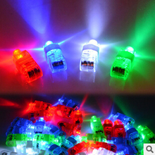 Freeshipping Halloween Gift, Finger Flashlights, LED Finger Light Beams Ring Torch For Party M094