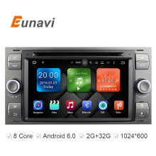 Eunavi 2 Din Android 6.0 Octa 8 Core Car DVD Player GPS Navigation WIFI 4G for FORD S-Max Kuga Fusion Transit Fiesta Focus II