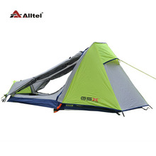 lightweight outdoor camping tent Single Aluminum Pole Double layer professional field through the hiking equipment