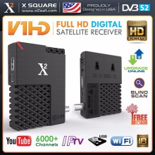 Satellite Receiver FULL HD DVB-S2 Mini HD FTA with IPTV Hybrid Receiver, YouTube, Online Update, USB WiFi - New Version;tv box(China)