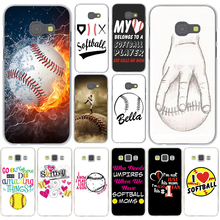 Fire Yellow Softball baseball And Water Cover Case for Samsung Galaxy A3 A5 A7 J3 J5 J7 2015 2016 2017 & Grand Prime 2 Note 4 3