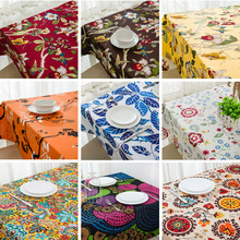 1Pcs Europe Style Retro Cloth art wedding cotton Tablecloth Embroidered Floral Dustproof Covers for Home decor/Party TableCloth(China)