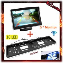 High Quality 5 inch LCD Monitor For Security Backup Parking & 16 LED Wire /Wireless Rear View Camera Nigh Vision Parking assist