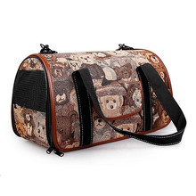Luxury Designer Airline Portable Pet Carrier Dog Bags Backpacks Slings Shoulder Bag For Carrying Cat Animals Soft Cage(China)