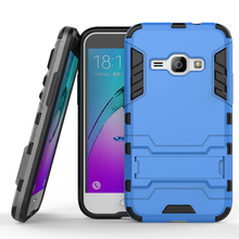 J120 Heavy Duty Armor Case For Samsung Galaxy J1 (2016) J120F J120 Phone Cover With Kickstand Hard Plastic + Silicon combo Cases