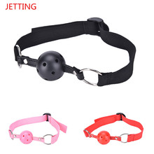 Buy Sex Open Mouth Gag Harness Oral Fixation Nylon Band Ball Gag Mouth Plug Adult Restraint Slave Bondage Sex Toys Couples