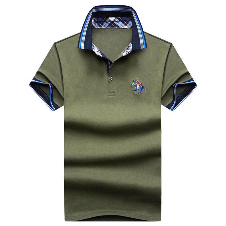 9Color Horse men quality cotton summer brand short golf riding man s male clothing 4XL large size Muls 2017 new arrival-07