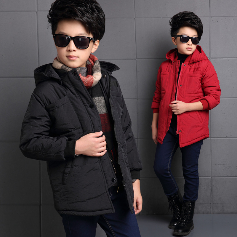 The New 2017 Contracted For Winter Jacket Boy Winter Children Pure Color Cotton Quality Childrens WearОдежда и ак�е��уары<br><br><br>Aliexpress