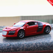 MINI AUTO 1:32 AUDI R8 metal toy cars model Alloy pull back miniatures kids toys for children Classic Diecast Metal Cars gifts(China)