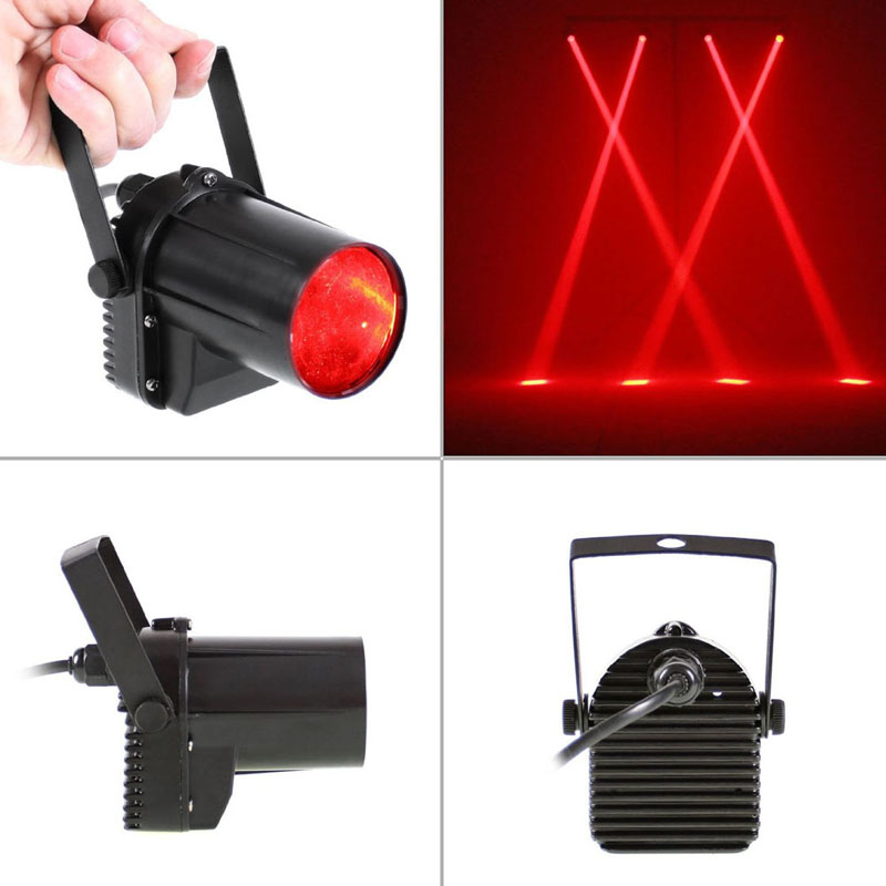 3W LED RED Beam Spotlight Party DJ Bar Stage Lighting Red Disco Stage Light Effect Projector Lighting luces discoteca US Plug<br><br>Aliexpress