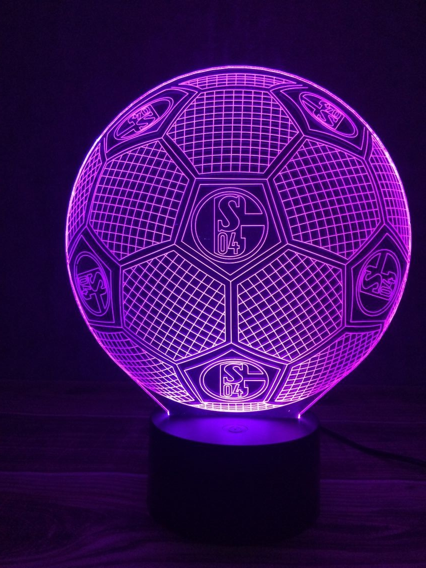 Creative Table Lamp 3D LED Visual Colorful Light Fixture USB Sleep Night Light Novelty Soccer Fashion Sports Football Lamp Gifts