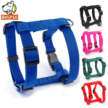 4 Sizes XS S M L Nylon Small Harness For Dog Pet Puppy Adjustable 5 Colors Black Blue Red Green Rose(China)