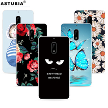 TPU Soft Cases For Nokia 6 Case Silicone Brand Cute Cover For Nokia 6 TA-1000 TA-1003 Case For Nokia 6 Rubber Phone Cases Cover(China)