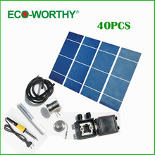 40PCS  2X6 solar cell +flux+tab wire+bus wire +junction box+soldering gun+cable ,DIY Solar panel