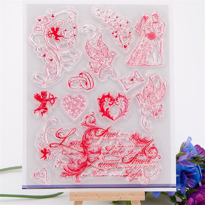 About wedding design scrapbooking clear stamps christmas gift for DIY paper card kids photo album  RM-176<br><br>Aliexpress