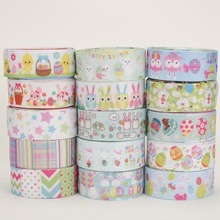 NEW ramdom set mix10 style 22/25mm lively Easter pattern printed grosgrain ribbons ,1Y/style(China)