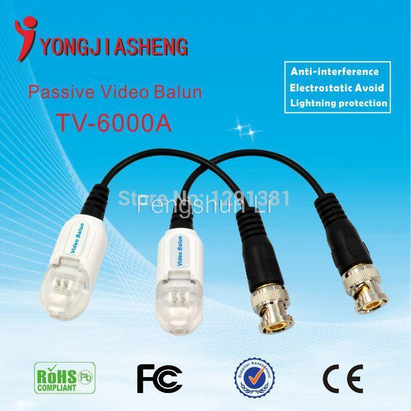 10pairs  Free SHIPPING Twisred  pair Transmitter  Lightning protection passive video balun transceiver UTP balun <br><br>Aliexpress