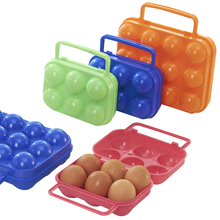 Portable Refrigerator Egg Storage Boxes Kitchen Storing 6 Eggs Outdoor Portable Container Storage Egg Orgainzer(China)