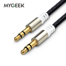 MyGeek 1 meter 3.5mm jack aux cable 3.5mm male to male audio cable for car / PM4 PM3 / headphone aux cord Speaker(China)