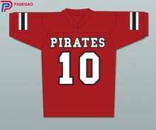 Embroidered Logo J.J. Watt 10 JJ Pewaukee Pirates High School American FOOTBALL JERSEY for fans gift(China)