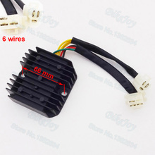 6 Wires Voltage Regulator Rectifier For CM400 CM450 1979-1986 CH 125cc 150cc 250cc Moped Scooter CN250 Motorbike Motorcycle(China)