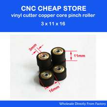 3Pcs 3x11x16mm Roland CAMM Graphtec Liyu Cutting Plotter Vinyl Cutter Pinch Roller Push Wheel Roll Feed New Free Shipping(China)