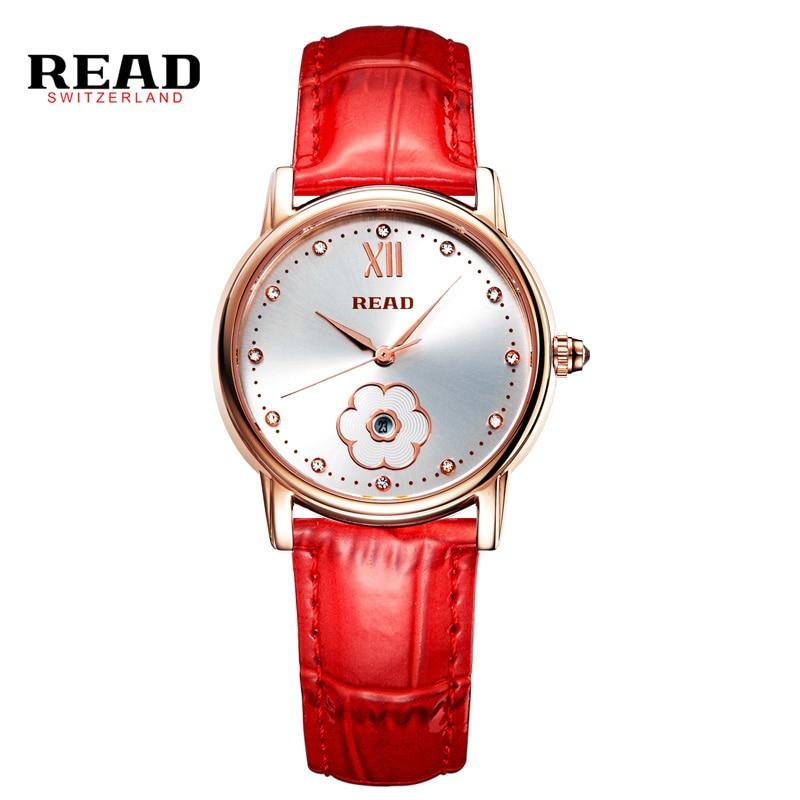 Women Watches Brand READ Fashion Quartz-watch Womens Wristwatch Hours Relojes Mujer Dress Ladies Watch Business Montre Femme<br>