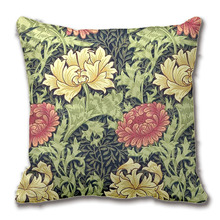 William Morris Chrysanthemum Vintage Floral Art Throw Pillow Case Decorative Cushion Cover Pillowcase Customize Gift By Lvsure