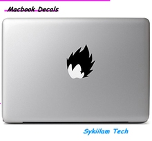 Dragon Ball Z Vegeta Head for apple Sticker Macbook Skin Air 11 12 13 Pro 13 15 17 Retina Decal Loptop Wall Car Vinyl Logo Case