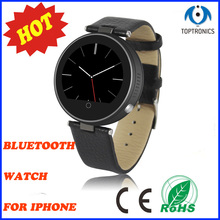 2016 Original top quality Round Heart Rate Monitor Bluetooth Smartwatch clock devices for ISO iPhone Android smartPhones