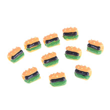 10PCS 1:12 DIY Dollhouse Hot Dog Home Miniature Decoration Craft Kids Kitchen Toys Pretend Play Toys Wholeale Price(China)