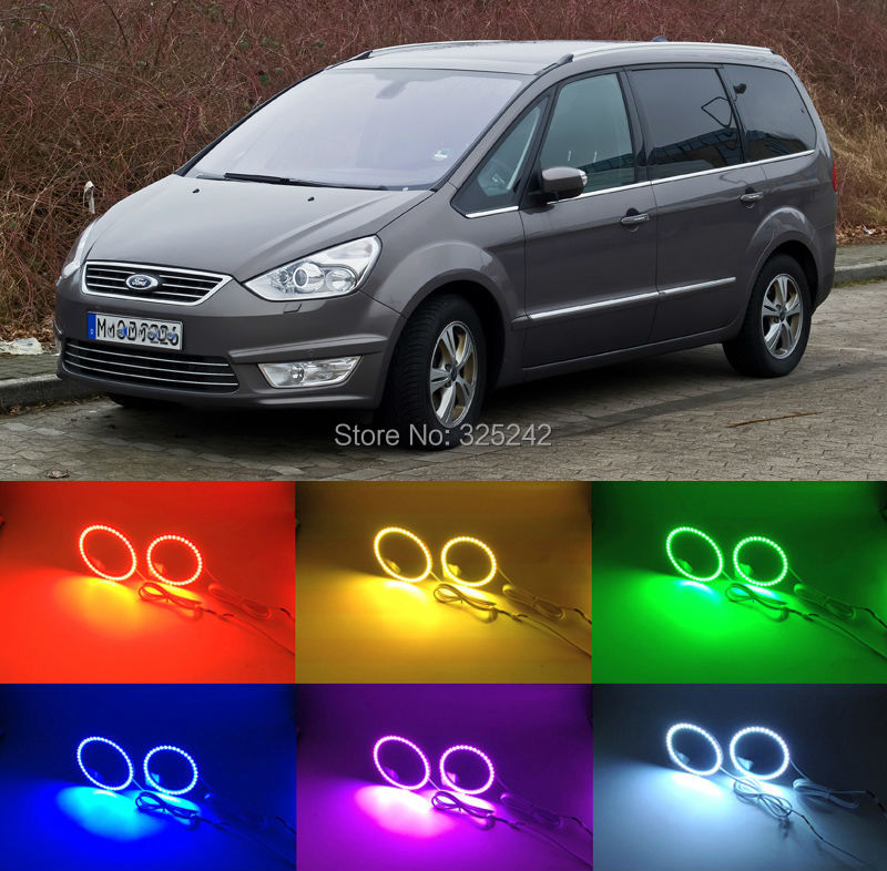 For Ford Galaxy 2006-2014 Excellent Angel Eyes kit Multi-Color Ultrabright 7 Colors RGB LED Angel Eyes Halo Ring<br><br>Aliexpress