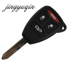jingyuqin Remote Key Case Shell for Jeep Chrysler Dodge Charger Magnum Ram 1500 2500 3500 Durango Car Alarm Housing(China)