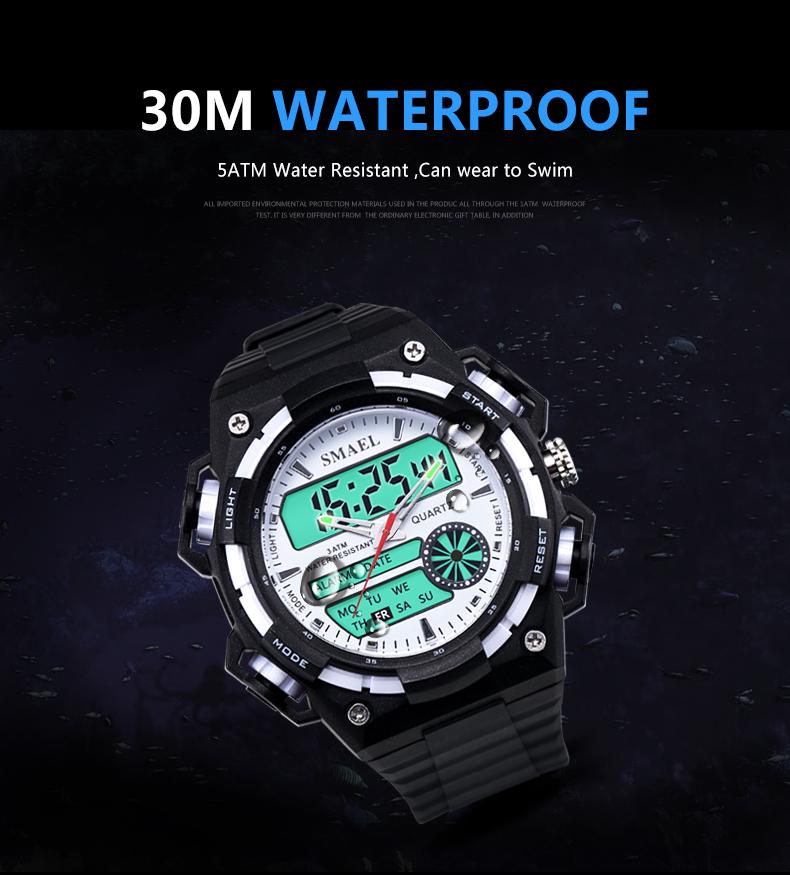 SMAELผู้ชายนาฬิกากองทัพดิจิตอลนาฬิกาสปอร์ตGสไตล์ช็อกนาฬิกาของมนุษย์1438นาฬิกาข้อมือm ontre homme LEDนาฬ... 19