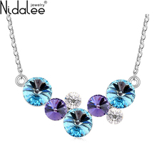 Nidalee 2017 Fashion Jewelry New Circular Crystal From Swarovski Necklace For Women Love Crystal Necklaces Pendants Jewelry Gift