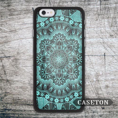 Green Floral Mint Mandala font b Case b font For font b iPhone b font 7