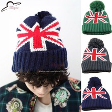 Finshion The British Union Jack hat winter ball beanie  Union Jack UK Flag cap Knitted Wool Cap Male And Female Casual Cap