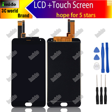 MeiZu M2 Note LCD Display+Touch Screen 100% high quality Digitizer Assembly Replacement For MeiZu M2 Note Phone+Tools