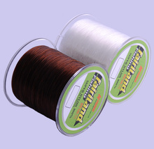 wholesale lower price 500m(547yd) Mono Fishing Line 0.4#-8# Coffee and White color Nylon fishing line Monofilament fish Line