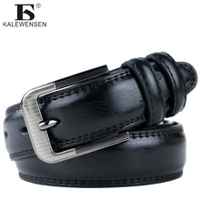 2017 mens cow genuine leather luxury strap male belts for men round classic cintos masculinos 3.5cm laser buckle LJ010(China)
