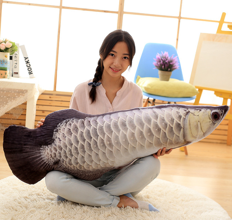 120cm Short Plush Fish Dakimakura Long Plush Pillow Simulation Fish Pillow Red Scleropages Bolster 47inch New Toys Hot Sale Doll<br>