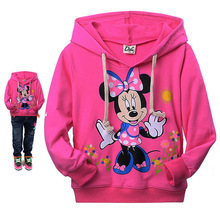 2016 Kids Hoodies Kitty KT Cat cartoon Minnie long-sleeved girls t-shirt casual sweater hoodies girls clothes baby girl clothes