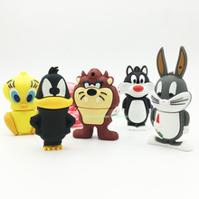 Full capacity USB stick 4gb USB flash drive 32gb cartoon fox memory falsh card 8gb pendrives 32GB rabbit 64gb duck tiger drives