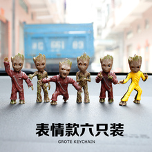 The Milky Way Guard 2 Small Hand Groot Keychain Grote Shuren Baby Decoration Model Toy(China)