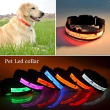1PC Led Light Dog Collar Luminous Big/Small Harness Dog Leash Pet Products For Dogs Collar For Cats Puppy Pet Necklace S2(China)