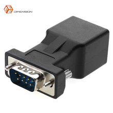 High Quality RJ45 Female to DB9 RS232 Male Connector COM Port to LAN Ethernet Port CATS adapter(China)