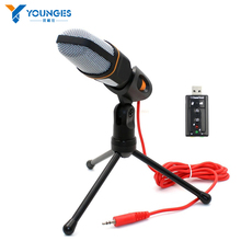 High quality New Condenser Microphone Professional Condenser Sound Podcast Studio Microfone for PC Laptop Skype MSN Karaoke